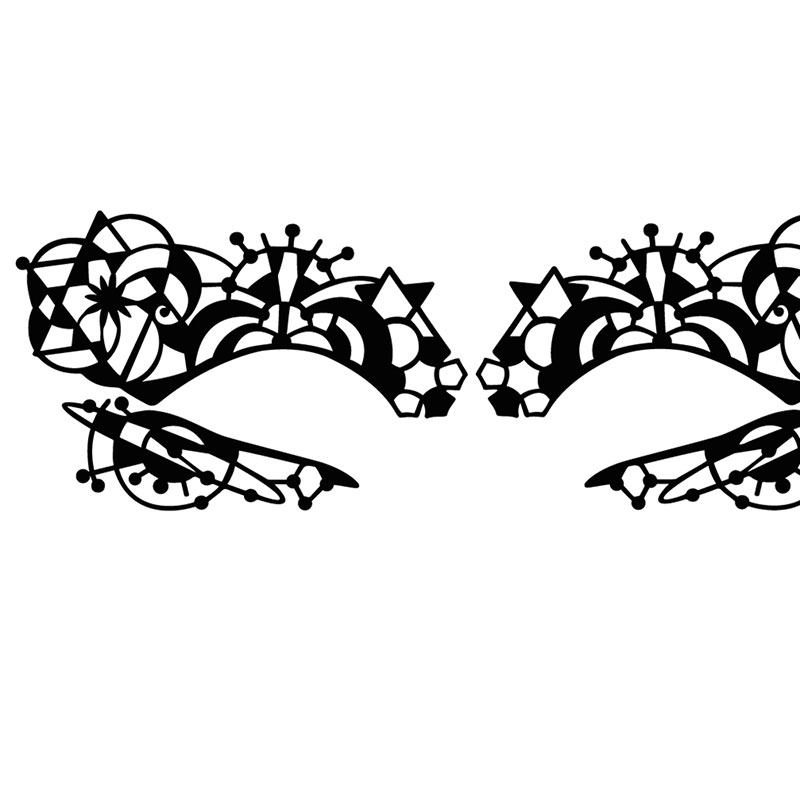 Revised Sacred Geo eye lace, designed as an exclusive for Selfridges department store.
