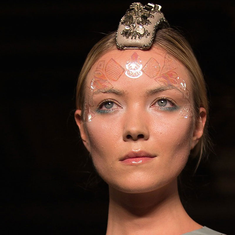 Bespoke pearl Face Lace for Mariana Jungmann.