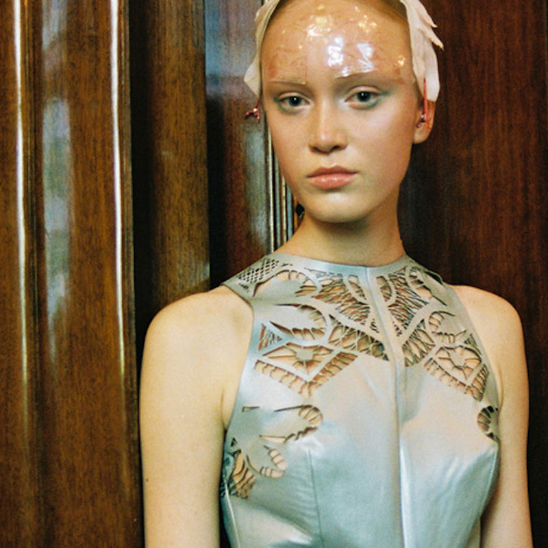 Bespoke pearl Face Lace for Mariana Jungmann's Sea Goddesses.