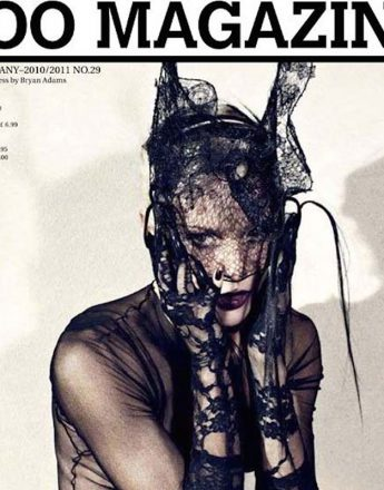 Daphne Guinness for Zoo magazine. Photography by Bryan Adams.