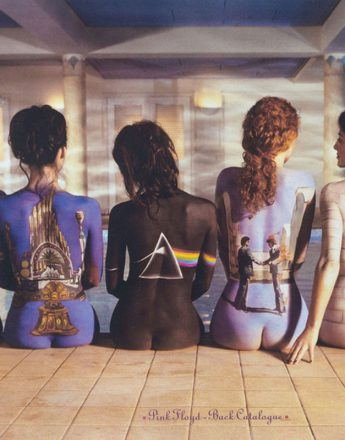 1996: Pink Floyd's back catalogue. Body painting by Phyllis Cohen. Photography by Tony May.