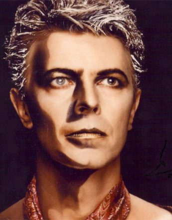 Still shot from David Bowie's 1984 video for Jazzin For Blue Jean. Photography by Greg Gorman and hair by Trevor Sorbie.
