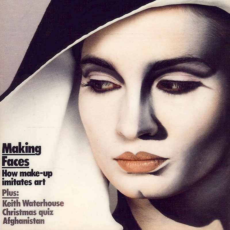 1983: Observer magazine cover. Photography by Robyn Beeche and hats by Stephen Jones. David Bowie's Lord Byron makeup for the Jazzin' for Blue Jean video was inspired by this photograph.